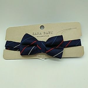 Zara baby boys tie XS blue stripes New!